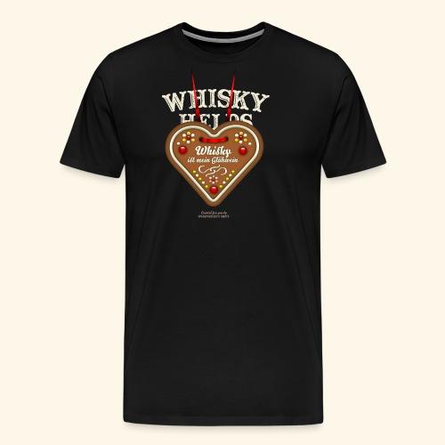 Whisky T Shirt Glühwein & Lebkuchenherz - Männer Premium T-Shirt