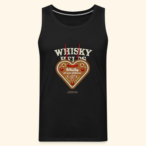 Whisky T Shirt Glühwein & Lebkuchenherz - Männer Premium Tank Top