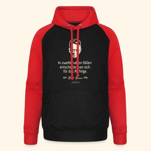 Zitat T Shirt Karl Kraus - Unisex Baseball Hoodie