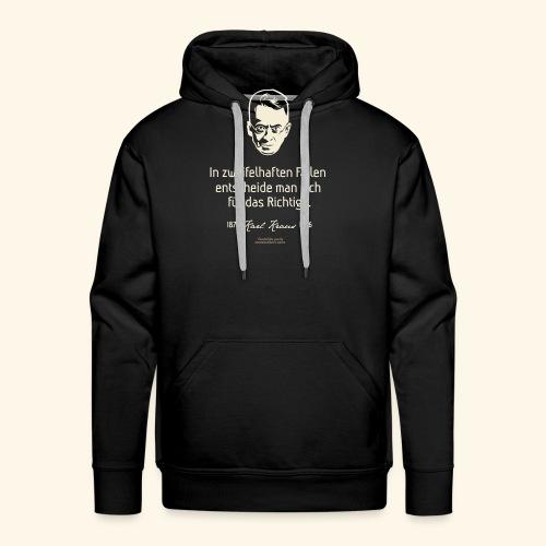 Zitat T Shirt Karl Kraus - Männer Premium Hoodie