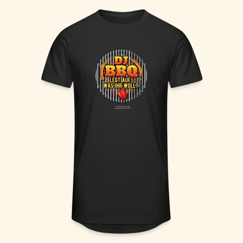 Grill T Shirt DJ BBQ - Männer Urban Longshirt