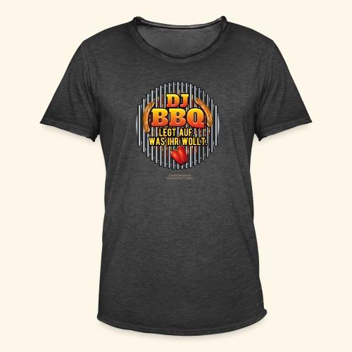 Grill T Shirt DJ BBQ - Männer Vintage T-Shirt