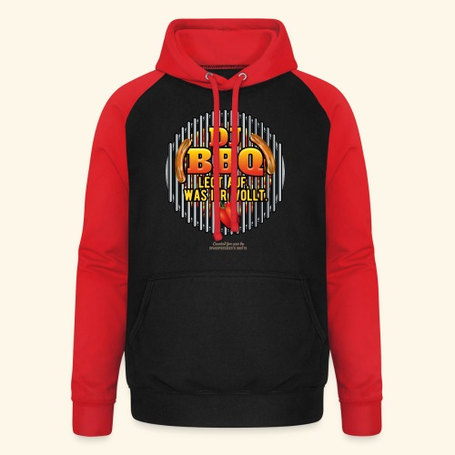 Grill T Shirt DJ BBQ - Unisex Baseball Hoodie