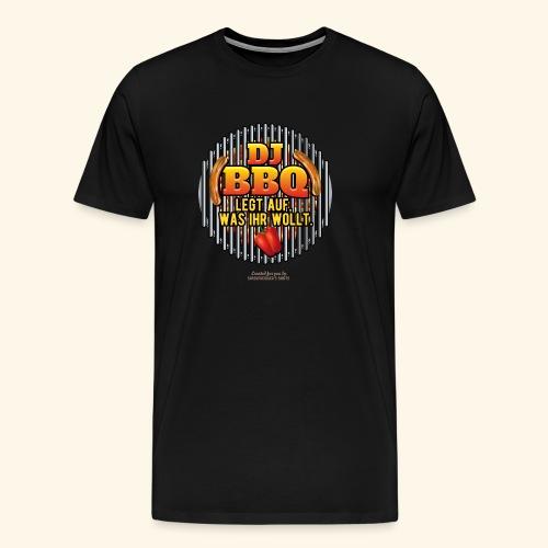 Grill T Shirt DJ BBQ - Männer Premium T-Shirt