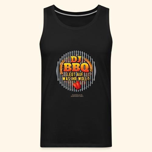 Grill T Shirt DJ BBQ - Männer Premium Tank Top