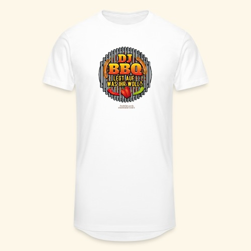 Grill T Shirt lustiger Spruch DJ BBQ - Männer Urban Longshirt