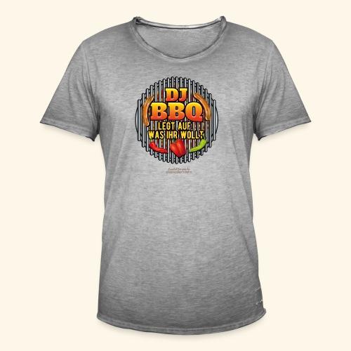 Grill T Shirt lustiger Spruch DJ BBQ - Männer Vintage T-Shirt