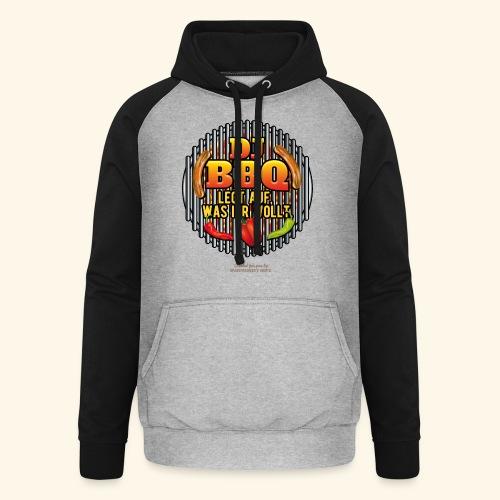 Grill T Shirt lustiger Spruch DJ BBQ - Unisex Baseball Hoodie