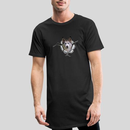 Husky im *Metall-Loch* - Männer Urban Longshirt