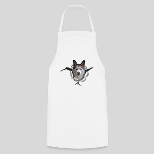 Husky im *Metall-Loch* - Kochschürze