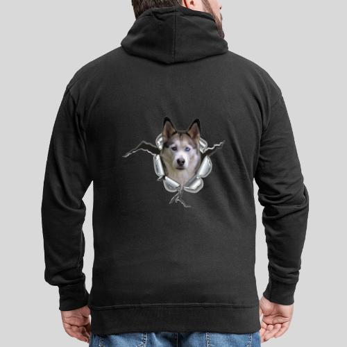 Husky im *Metall-Loch* - Männer Premium Kapuzenjacke