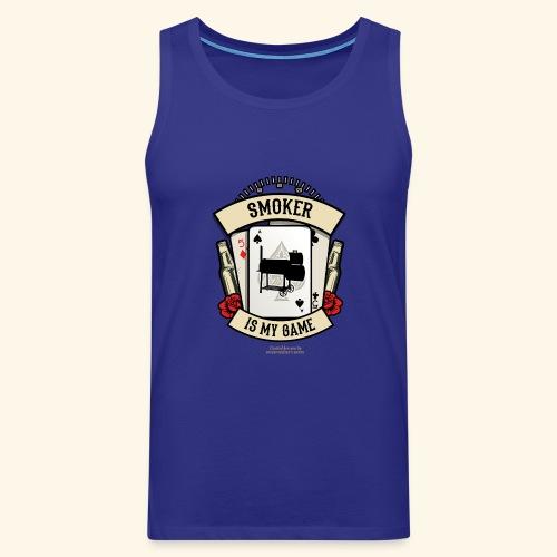 Grill T Shirt Smoker | witziger Spruch - Männer Premium Tank Top