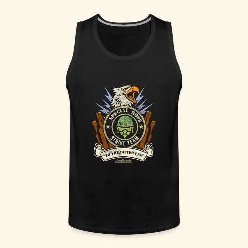 Craft Beer Fan T Shirt Special Hops Strike Team - Männer Premium Tank Top
