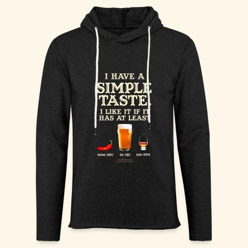 Whisky, Chili, Bier - Leichtes Kapuzensweatshirt Unisex