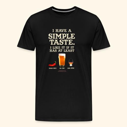 Whisky, Chili, Bier - Männer Premium T-Shirt