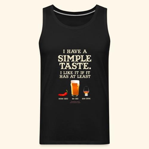 Whisky, Chili, Bier - Männer Premium Tank Top