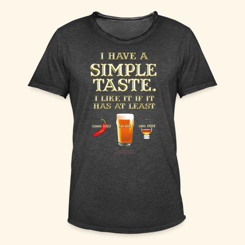 Whisky, Chili, Bier - Männer Vintage T-Shirt