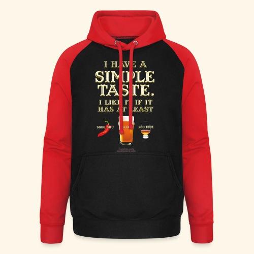 Whisky, Chili, Bier - Unisex Baseball Hoodie