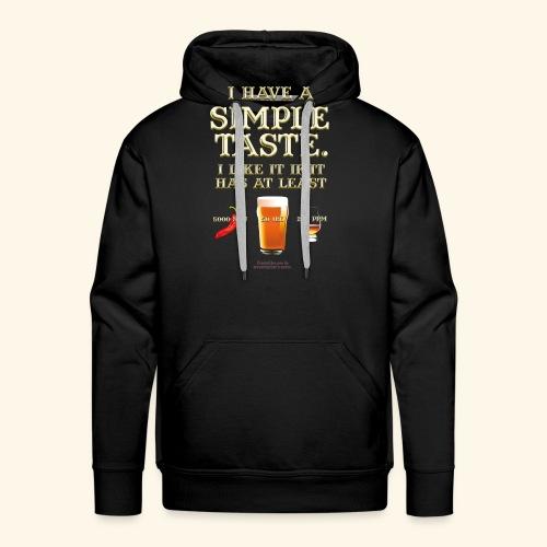 Whisky, Chili, Bier - Männer Premium Hoodie