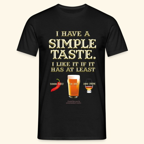 Whisky, Chili, Bier - Männer T-Shirt