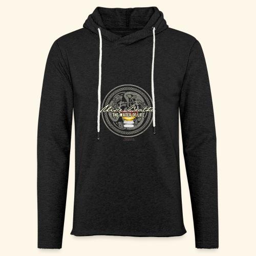 Whisky T Shirt Uisce Beatha - Leichtes Kapuzensweatshirt Unisex