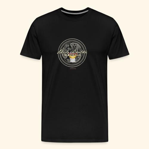 Whisky T Shirt Uisce Beatha - Männer Premium T-Shirt