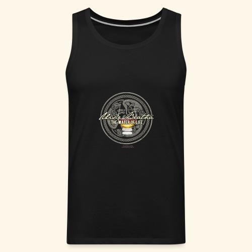 Whisky T Shirt Uisce Beatha - Männer Premium Tank Top