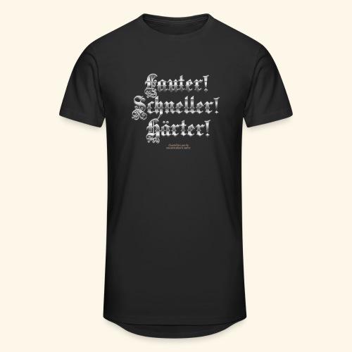 Heavy Metal Fan T Shirt Lauter, schneller, härter - Männer Urban Longshirt