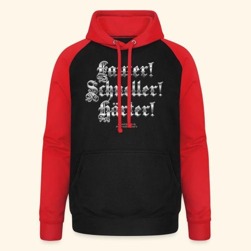 Heavy Metal Fan T Shirt Lauter, schneller, härter - Unisex Baseball Hoodie