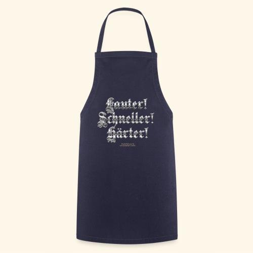 Heavy Metal Fan T Shirt Lauter, schneller, härter - Kochschürze