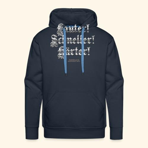 Heavy Metal Fan T Shirt Lauter, schneller, härter - Männer Premium Hoodie