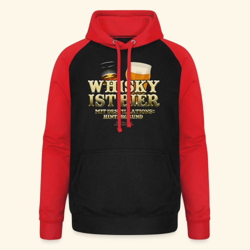 Whisky T Shirt Whisky ist Bier - Unisex Baseball Hoodie