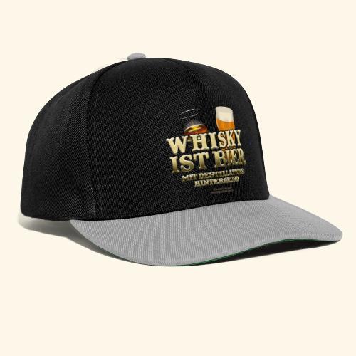 Whisky T Shirt Whisky ist Bier - Snapback Cap