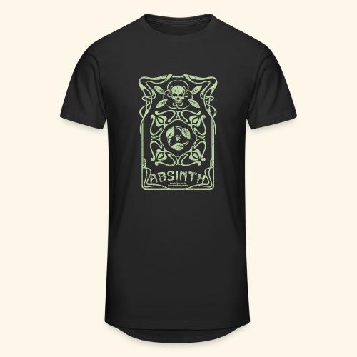 Absinth T Shirt Art Deco - Männer Urban Longshirt
