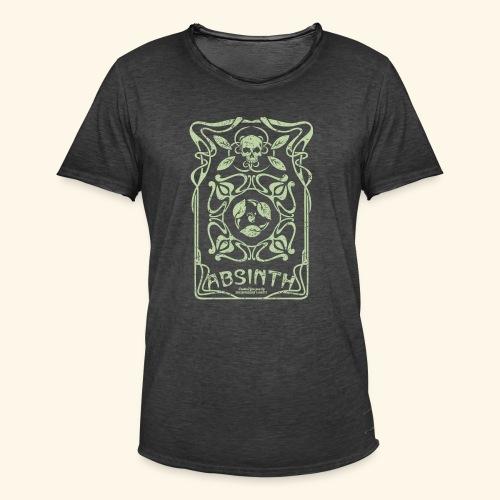 Absinth T Shirt Art Deco - Männer Vintage T-Shirt