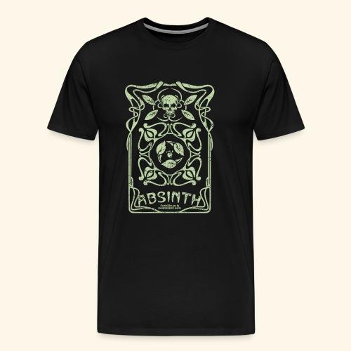 Absinth T Shirt Art Deco - Männer Premium T-Shirt