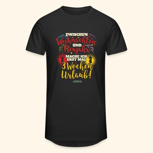 Sprüche T Shirt Weihnachten Neujahr Urlaub  - Männer Urban Longshirt