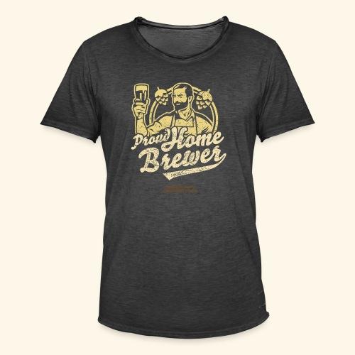 Craft Beer T Shirt Design Proud Home Brewer - Männer Vintage T-Shirt