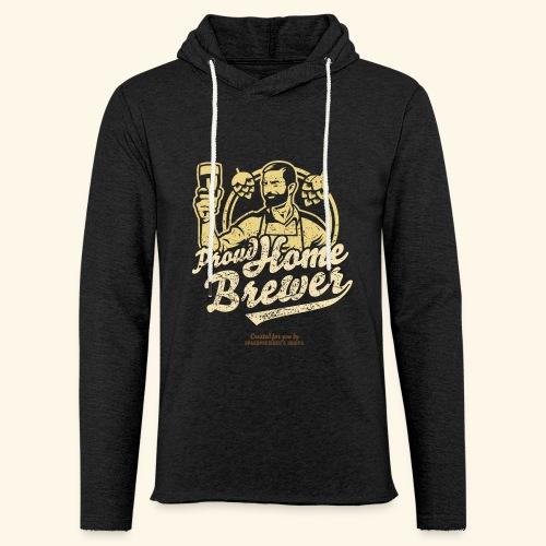 Craft Beer T Shirt Design Proud Home Brewer - Leichtes Kapuzensweatshirt Unisex
