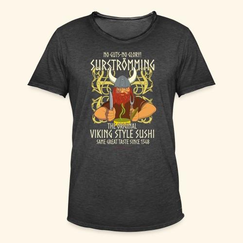 Surströmming T Shirt Viking Sushi - Männer Vintage T-Shirt