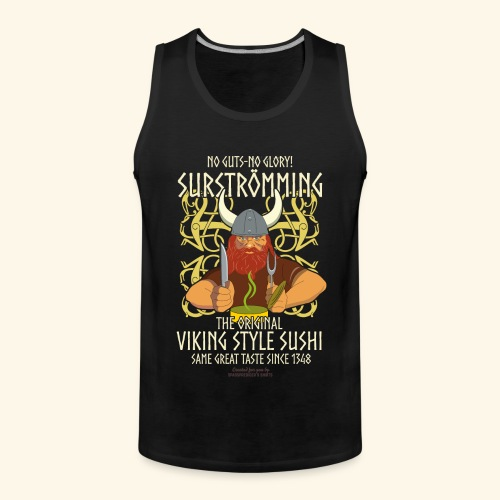 Surströmming T Shirt Viking Sushi - Männer Premium Tank Top