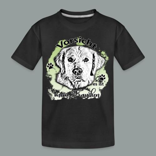 Vorsicht mein Frauchen - Teenager Premium Bio T-Shirt