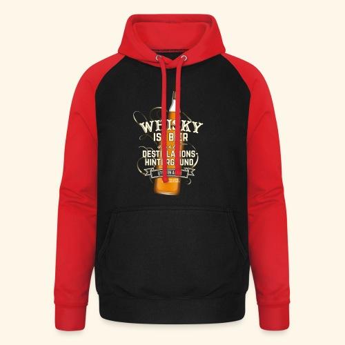 Whisky T Shirt Spruch Whisky ist Bier - Unisex Baseball Hoodie