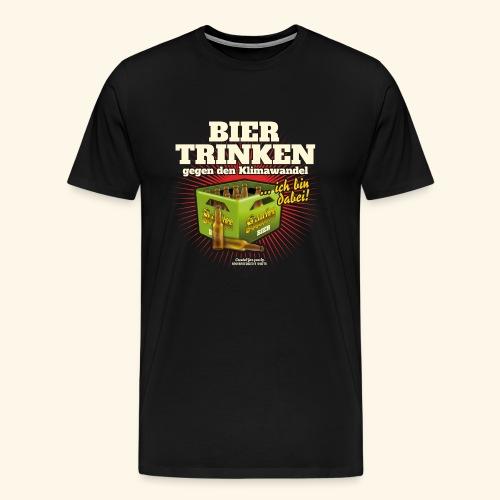 Bier T Shirt Trinken gegen den Klimawandel - Männer Premium T-Shirt