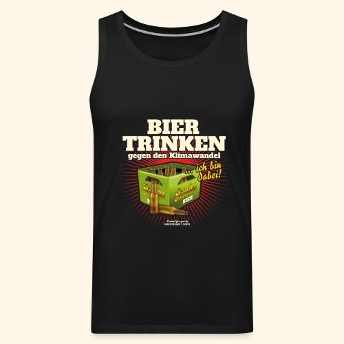 Bier T Shirt Trinken gegen den Klimawandel - Männer Premium Tank Top
