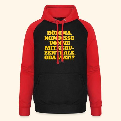 Sprüche T Shirt Mitnerv-Zentrale - Unisex Baseball Hoodie