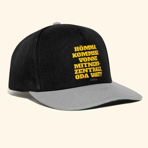 Sprüche T Shirt Mitnerv-Zentrale - Snapback Cap