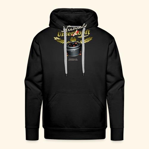 Dutch Oven T Shirt Niemals unterdopft - Männer Premium Hoodie