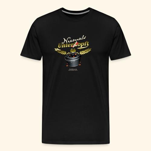 Dutch Oven T Shirt Niemals unterdopft - Männer Premium T-Shirt