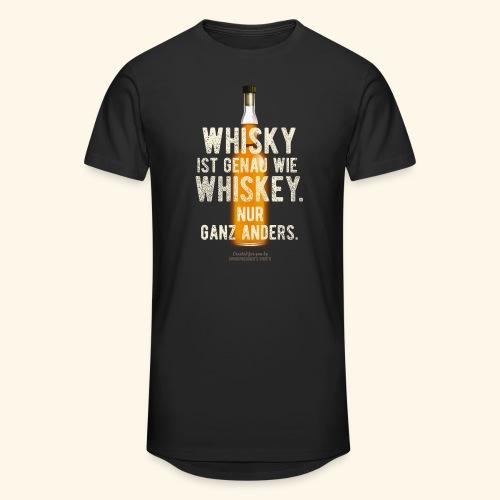 Whisky ist genau wie Whiskey | witziger Spruch - Männer Urban Longshirt